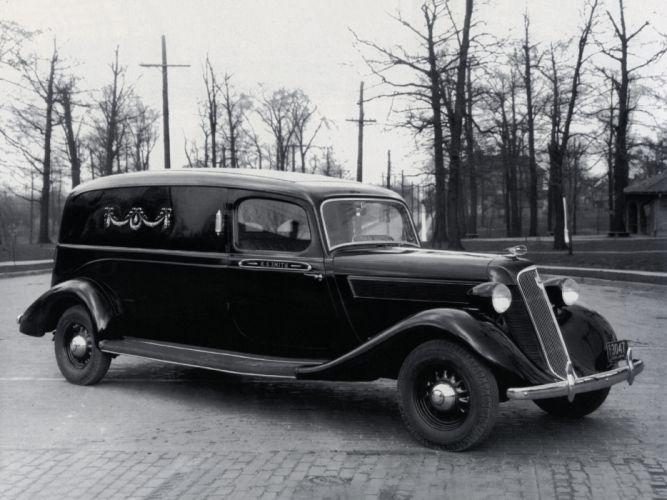 1935 Studebaker Dictator Funeral Car transport truck stationwagon retro dark death wallpaper
