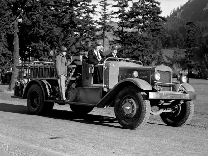 1938 Holabird BF 750 USA Pumper firetruck retro truck wallpaper