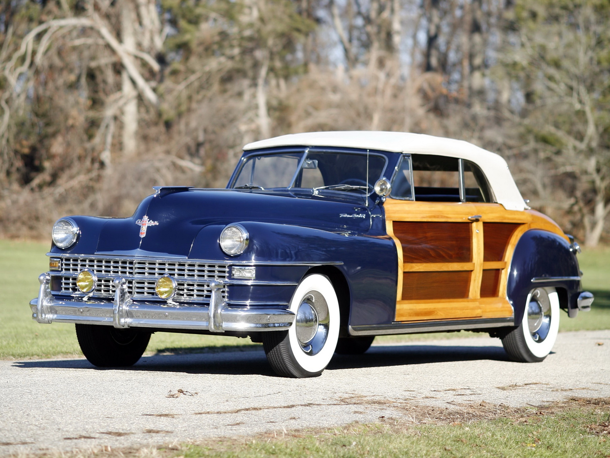 1947 Chrysler Town Amp Country Convertible Retro H Wallpaper 2048x1536 114286 Wallpaperup
