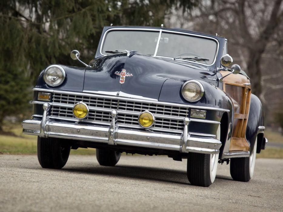 1947 Chrysler Town & Country Convertible retro   g wallpaper