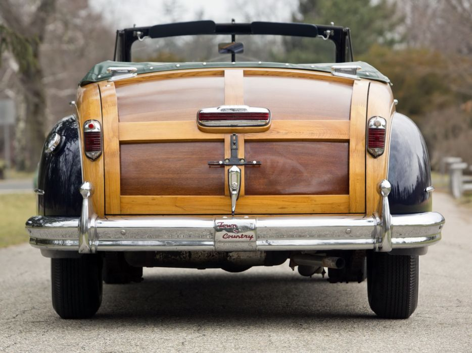 1947 Chrysler Town & Country Convertible retro g wallpaper