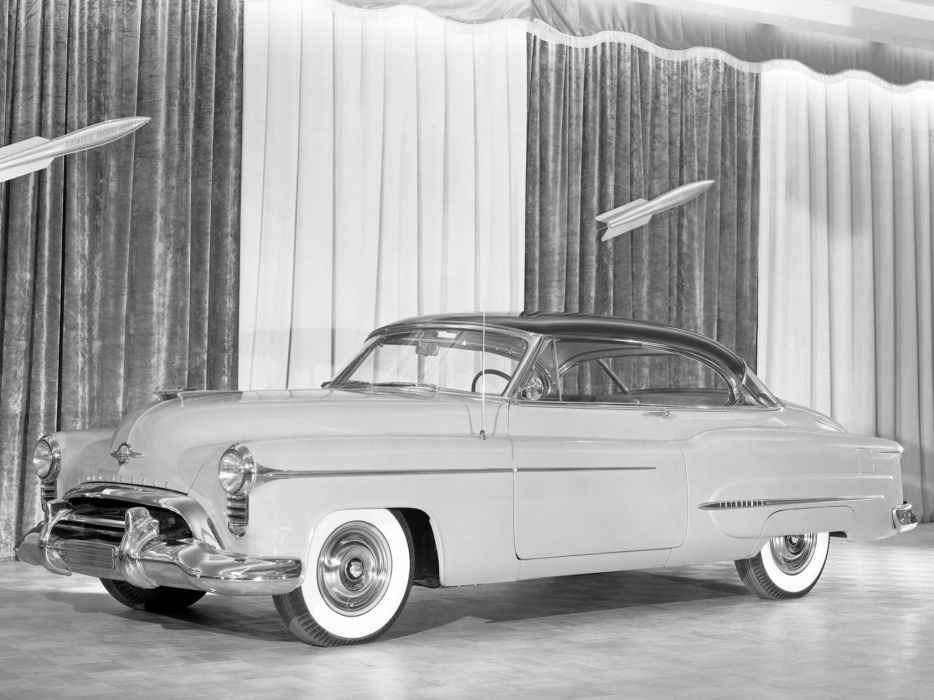 1950 Oldsmobile 9-8 Holiday Coupe retro wallpaper