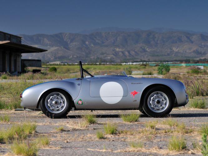 1953 Porsche 550 R-S Spyder race racing supercar supercars retro g wallpaper