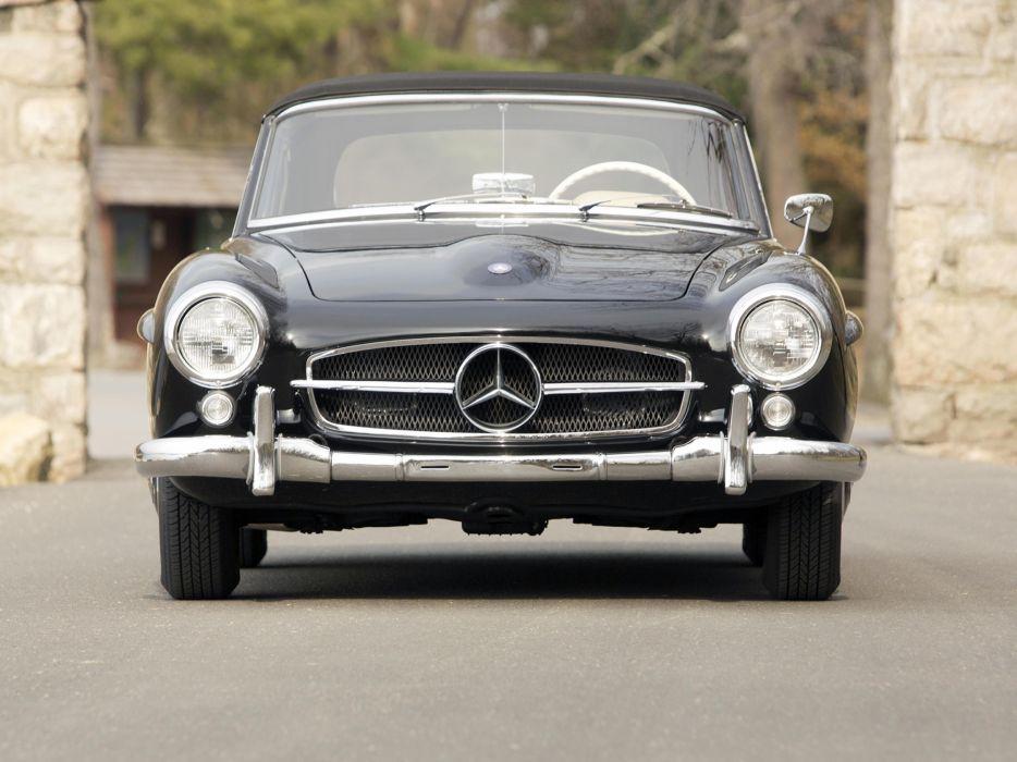 1955 Mercedes Benz 190 S-L US-spec retro wallpaper