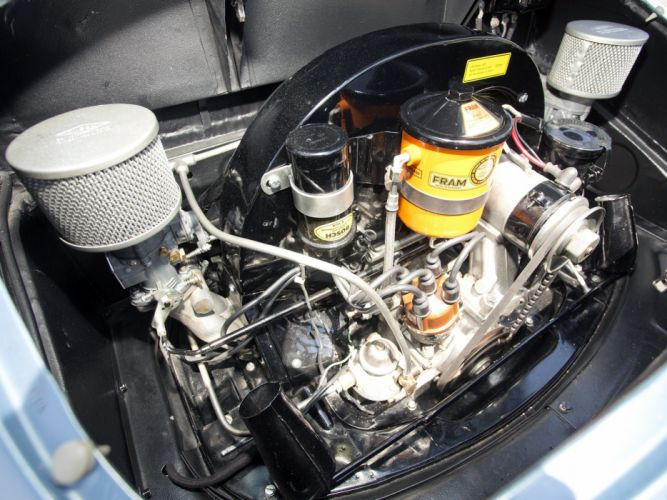 1955 Porsche 356A Speedster US-spec T-1 supercar supercars retro engine engines f wallpaper