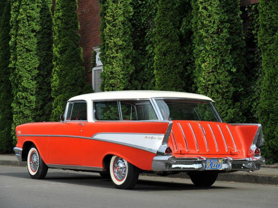 1957 Chevrolet Bel Air Nomad retro stationwagon g wallpaper