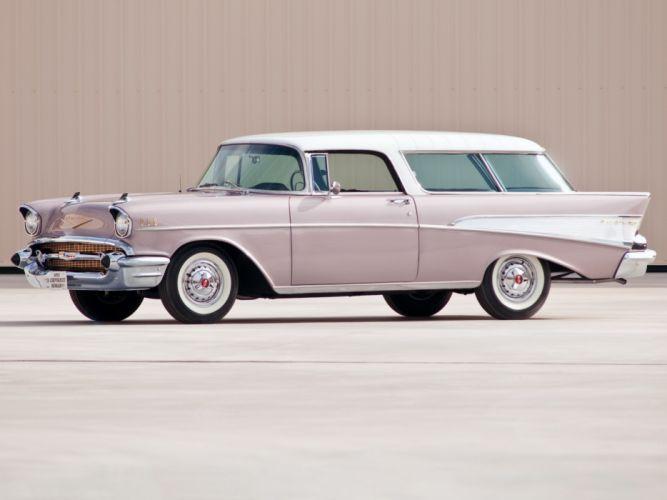 1957 Chevrolet Bel Air Nomad retro stationwagon hd wallpaper