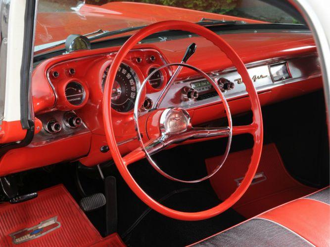 1957 Chevrolet Bel Air Nomad retro stationwagon interior wallpaper