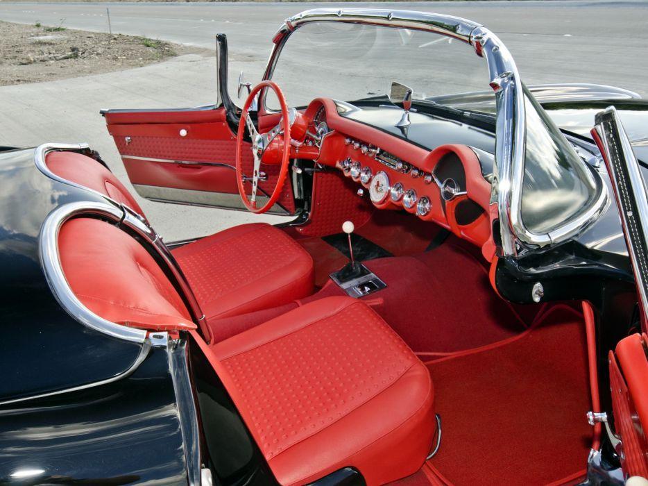 1957 Corvette C-1 Airbox COPO retro muscle supercar supercars interior       4 wallpaper