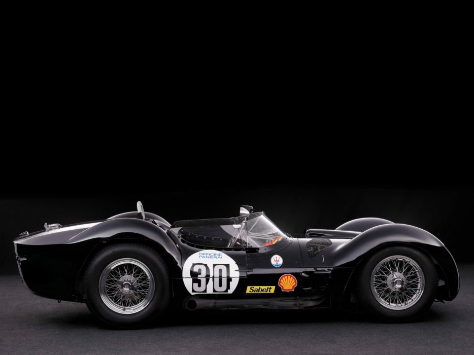 1959 Maserati Tipo 6-1 Birdcage race racing supercar supercars retro    n wallpaper