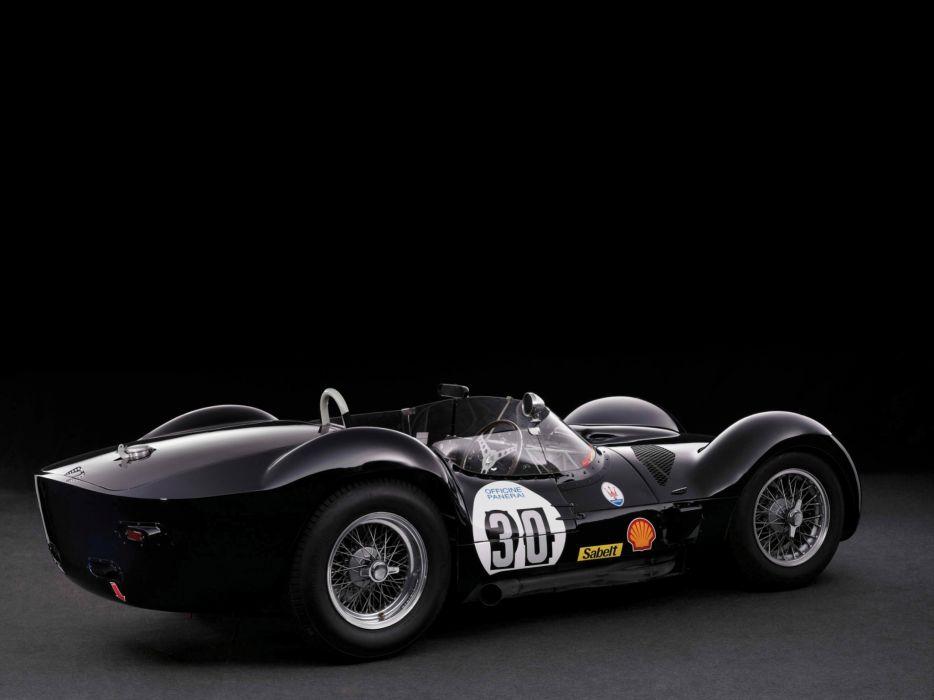 1959 Maserati Tipo 6-1 Birdcage race racing supercar supercars retro   e wallpaper