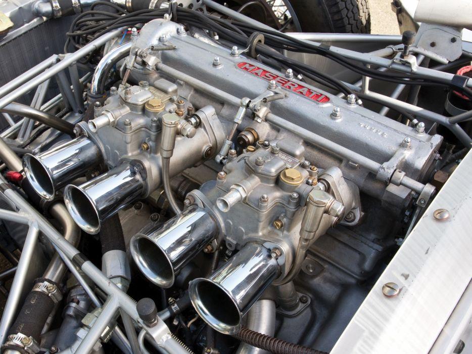 1959 Maserati Tipo 6-1 Birdcage race racing supercar supercars retro engine engines         f wallpaper