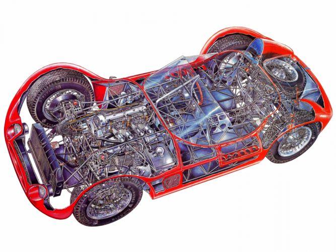 1959 Maserati Tipo 6-1 Birdcage race racing supercar supercars retro engine engines interior f wallpaper