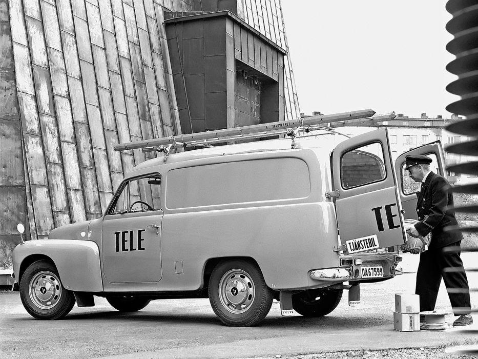 1960 Volvo P210 Skapbil transport classic truck utility    f wallpaper