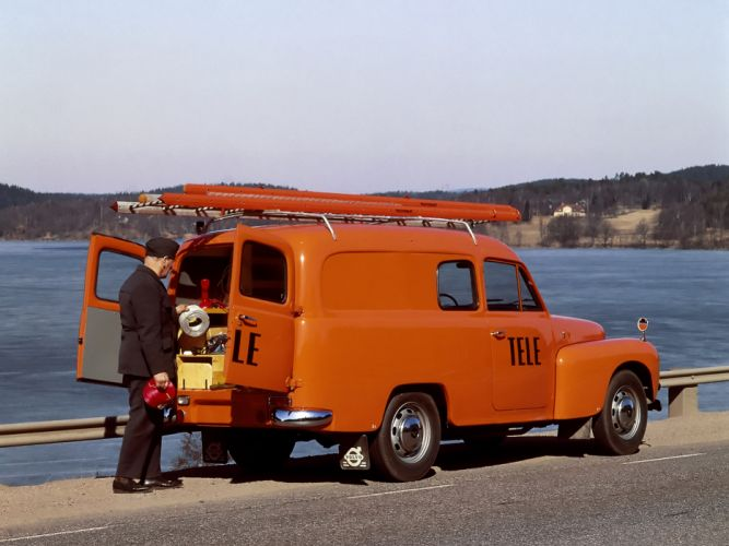 1960 Volvo P210 Skapbil transport classic truck utility wallpaper
