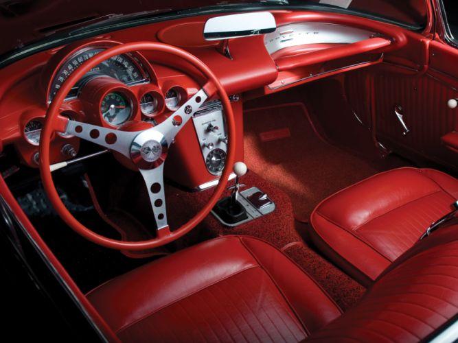 1962 Chevrolet Corvette C-1 Fuel Injection supercar supercars muscle classic interior g wallpaper