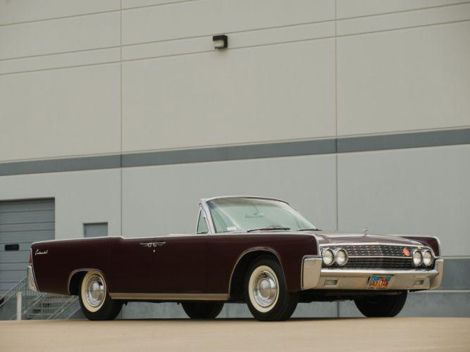 1962 Lincoln Continental Convertible classic luxury fs wallpaper