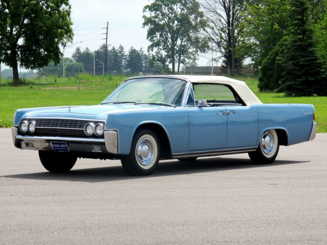 1962 Lincoln Continental Convertible classic luxury wallpaper