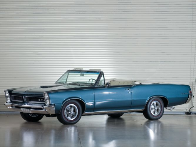 1965 Pontiac Tempest LeMans GTO Convertible muscle classic f wallpaper