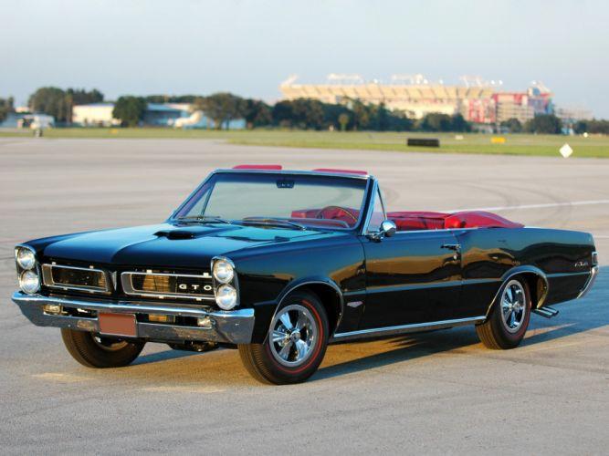 1965 Pontiac Tempest LeMans GTO Convertible muscle classic g wallpaper