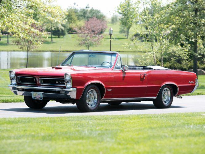 1965 Pontiac Tempest LeMans GTO Convertible muscle classic wallpaper
