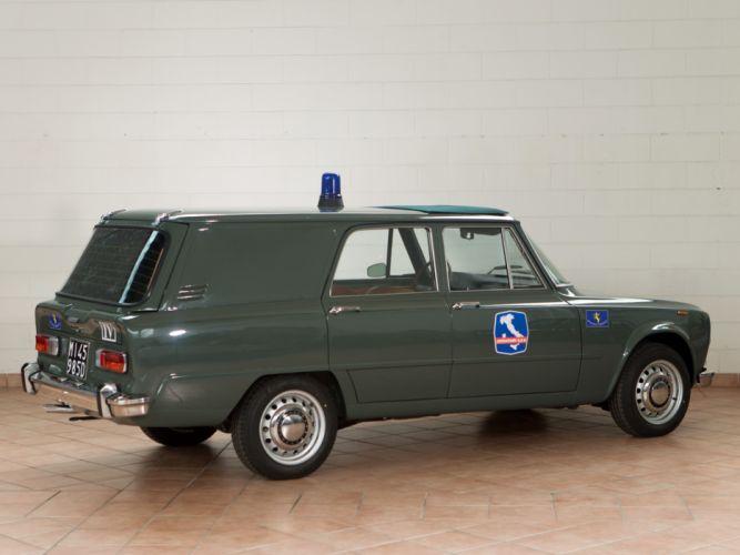 1967 Alfa Romeo Giulia Super Polizia Speciale police classic stationwagon f wallpaper