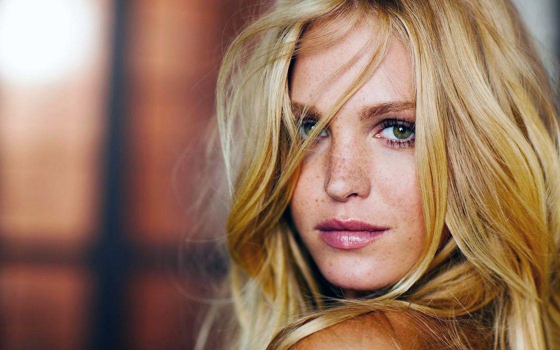 Girl Woman Beauty Face Blonde wallpaper