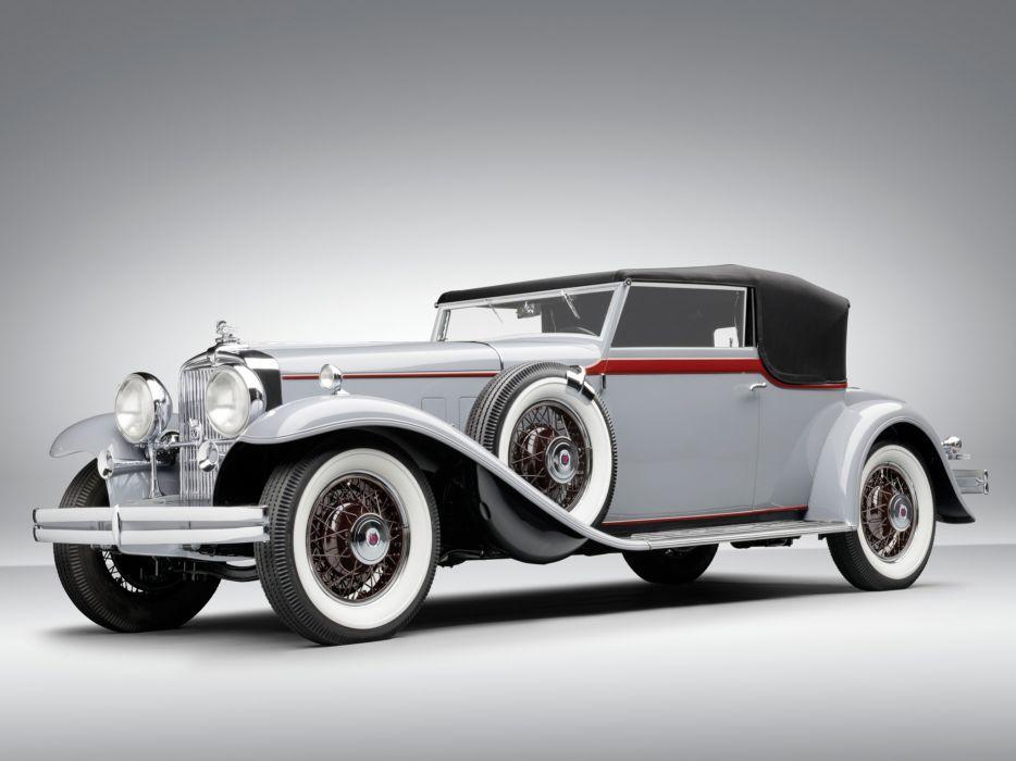 1931 Stutz DV32 Convertible Victoria Rollston luxury retro wallpaper