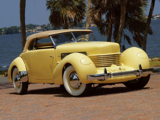 1937 Cord 812 S-C Phaeton retro fa wallpaper