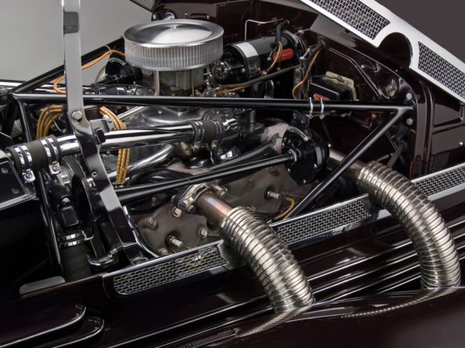 1937 Cord 812 S-C Phaeton retro roadster engine engines e wallpaper