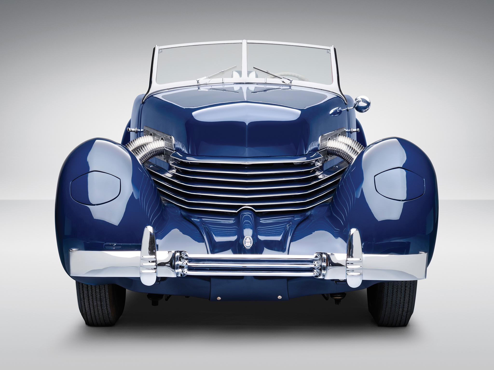 1937 Cord 812 S-C Phaeton retro roadster wallpaper background