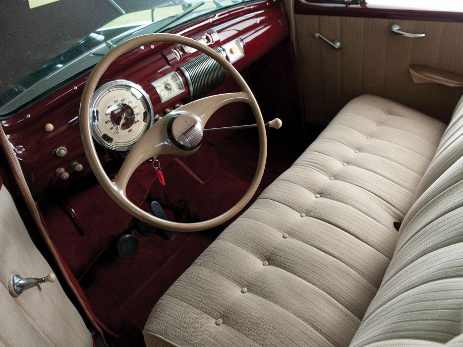 1940 Lincoln Zephyr Club Coupe retro interior     f wallpaper