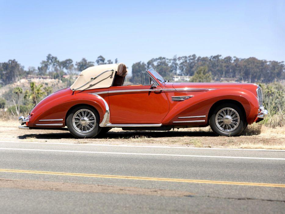 1947 Delahaye 175S Cabriolet Chapron retro     g wallpaper