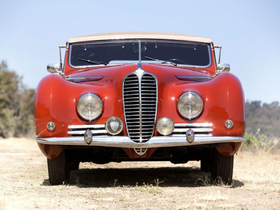 1947 Delahaye 175S Cabriolet Chapron retro    f wallpaper