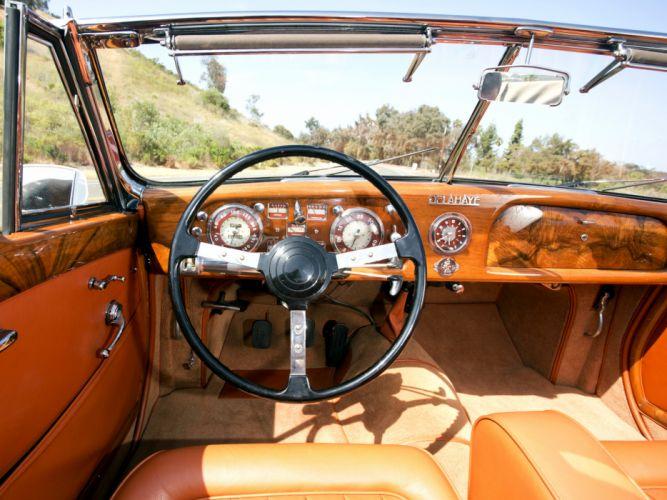 1947 Delahaye 175S Cabriolet Chapron retro interior f wallpaper