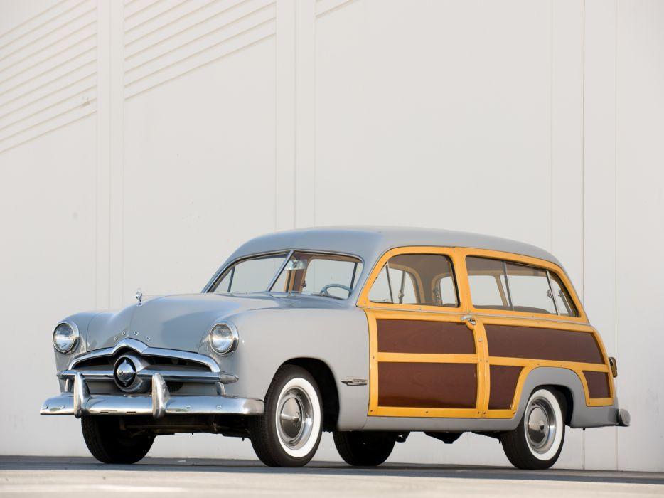 1949 Ford Custom StationWagon retro f wallpaper