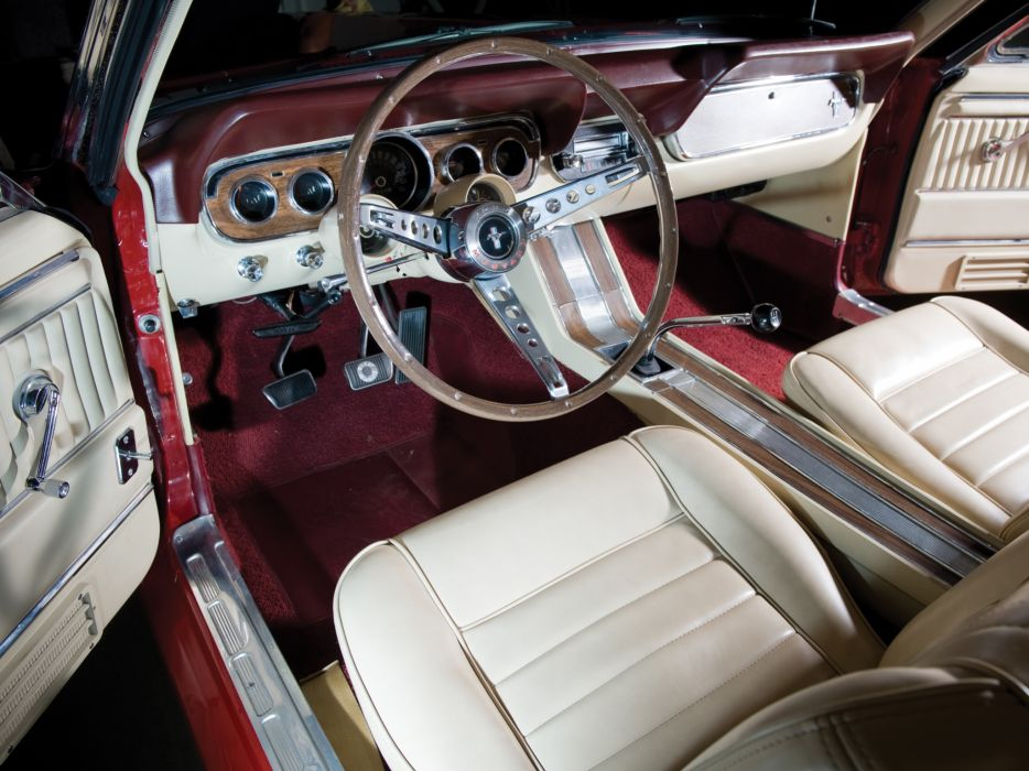 1966 Ford Mustang G-T Fastback 289 muscle classic interior wallpaper