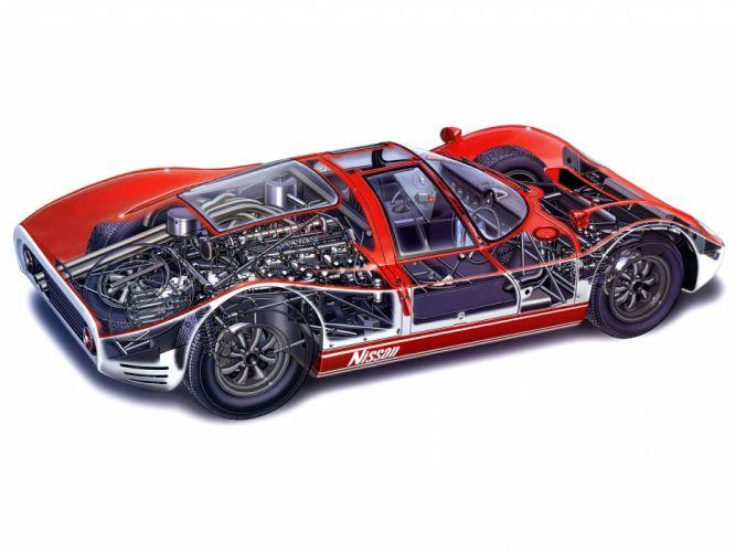 1966 Nissan R380-II supercar supercars classic race racing wallpaper