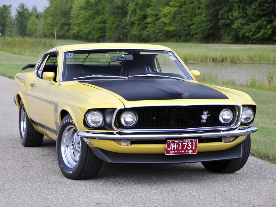 1969 Ford Mustang Boss 302 muscle classic f wallpaper
