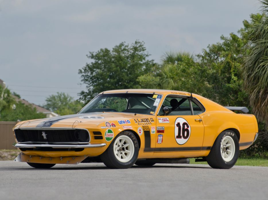 1970 Ford Mustang Boss 302 Trans-Am race racing muscle classic hot rod rods wallpaper