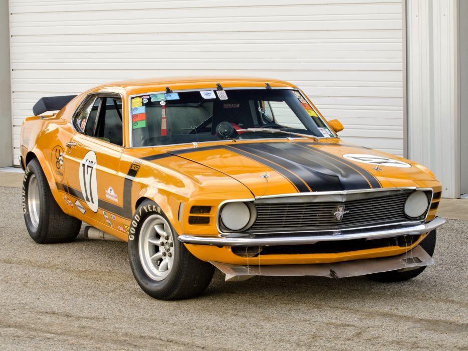 1970 Mustang Boss 302 Trans-Am race racing muscle classic hot rod rods    f wallpaper