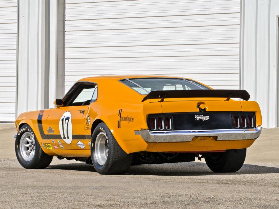 1970 Mustang Boss 302 Trans-Am race racing muscle classic hot rod rods  d wallpaper
