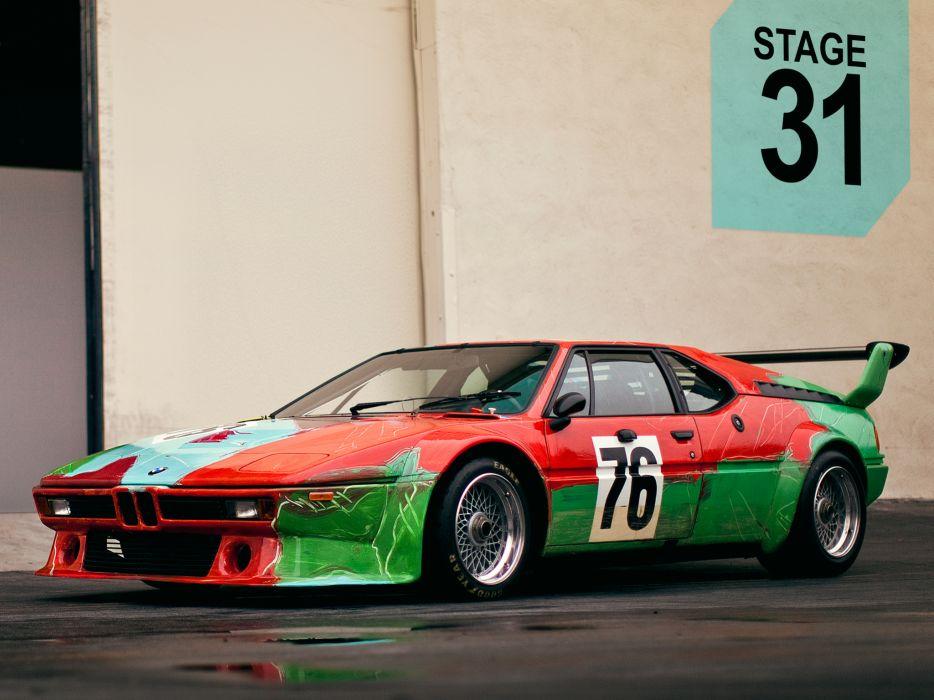 1979 BMW M-1 Group-4 Rennversion Art Andy Warhol E26 classic supercar supercars wallpaper