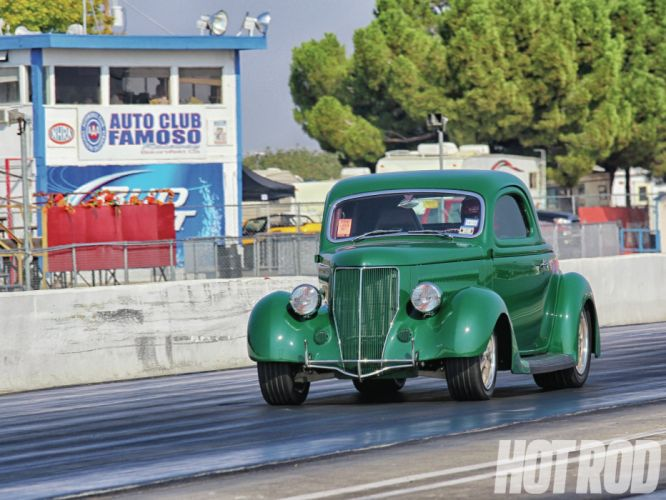 1936 ford three window coupe retro hot rod rods drag racing race wallpaper
