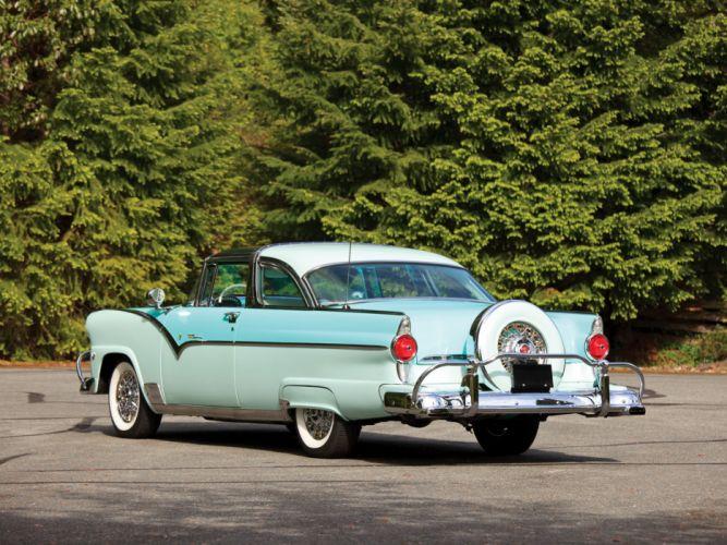 1955 Ford Fairlane Crown Victoria Skyliner 64B retro g wallpaper
