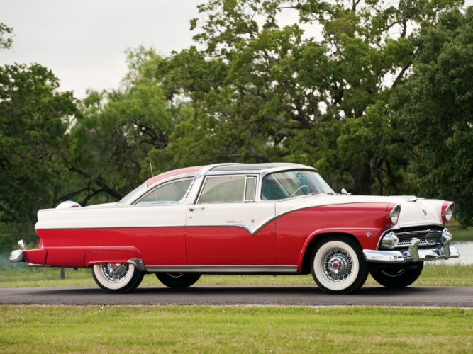 1955 Ford Fairlane Crown Victoria Skyliner 64B retro v wallpaper
