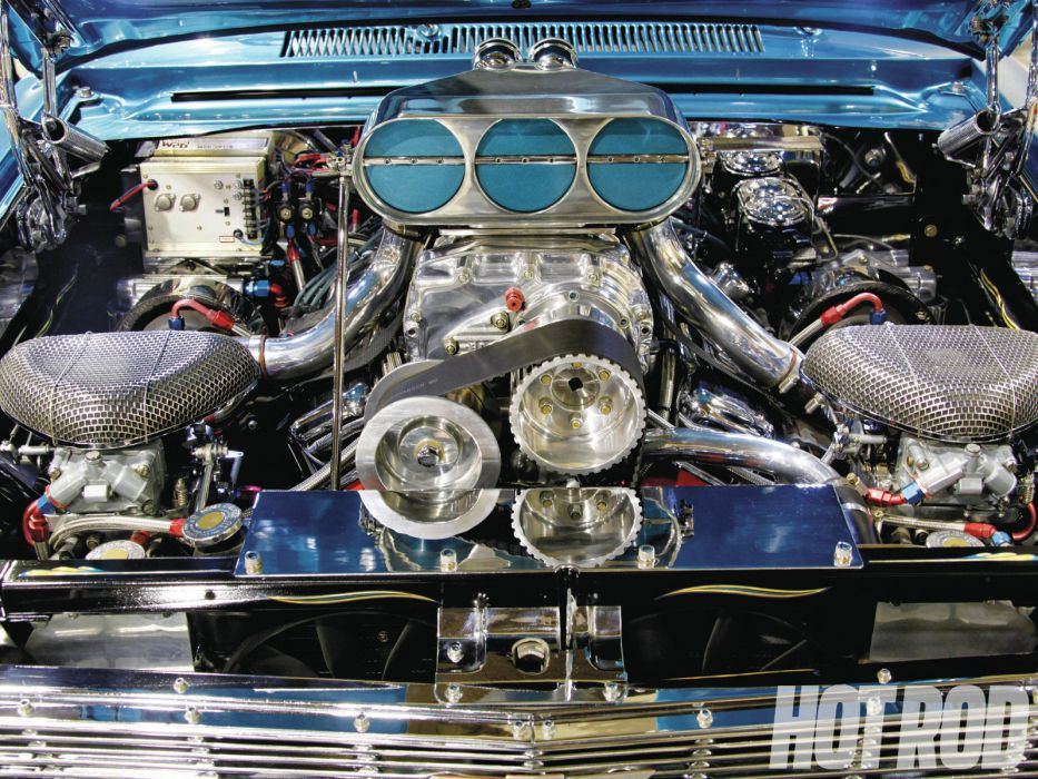 1965 Chevy II Nova muscle classic pro hot rod rods engine engines wallpaper