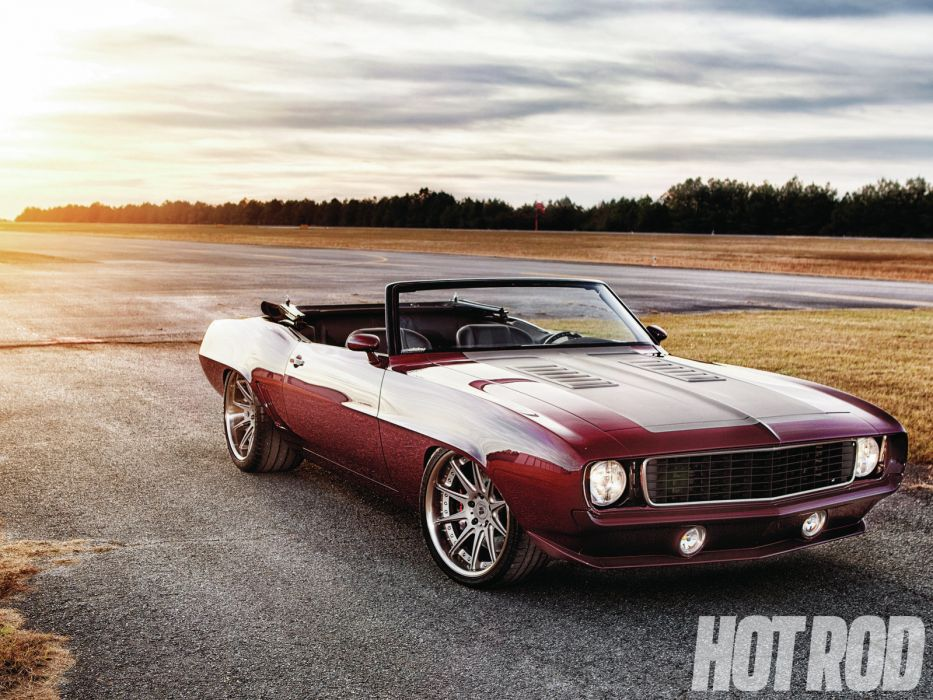 1969 Chevrolet Camaro 414ci LS3 muscle classic hot rod rods convertible wallpaper