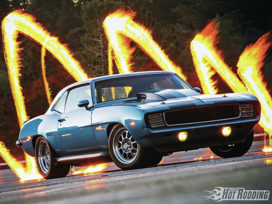 1969 Chevrolet Camaro 540 muscle classic hot rod rods   gb wallpaper
