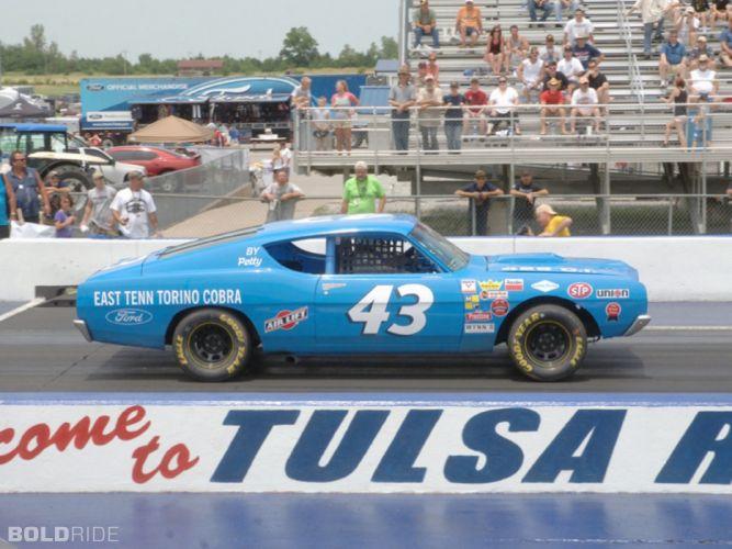 1969 Ford Torino Cobra 408-400 HP nascar race racing classic muscle drag wallpaper